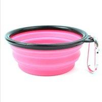 الكلب تغذية الأطباق الحيوانات الأليفة طبق المياه تغذية الأطباق المحمولة طوي وعاء مع هوك قابل للطي قابل للتوسيع عاء خفيفة الوزن pheerders YYB3365