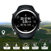 Sport Digital Sport Watch GPS Running Watch with Speed ​​Pace Distance Calorie Burning Cronômetro à prova d'água 50m Ezon T031 201130