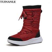 Боевые ботинки туинанье для женской качественной платформы Ботинки Mid-Calf Зимние женщины круглые носки мотоцикл Zapatos Para Mujer1