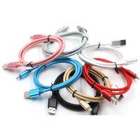 Ununterbrochene Metalladapter Starker Micro / Typ C USB-Kabeln Daten Sync-Ladeführung für Samsungs20 S10 Note20 1m 3ft / 2m 6ft / 3m 10 ft