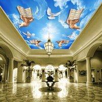 Dropship Photo Wallpaper Stile europeo Angelo Zenith Mural Hall Camera da letto soffitto a soffitto Carta da parati Pittura decorativa 3D1