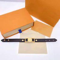 Unisex Armband Mode Gürtel Armbänder Für Mann Frau Schmuck Einstellbar Armband Modeschmuck 4 Farbe mit Kasten