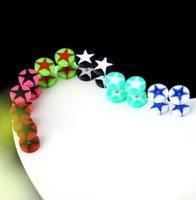12 قطع مفيدة المحمولة السلامة للجنسين الاكريليك وهمية الأذن التوصيل النفق نقالة المتوسع توسع مسمار أقراط الغشاش