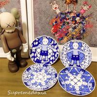4 шт. / Установить KAWS Holiday Taipei предел чайные блюда блюда синие и белые фарфоровые чайные плиты фарфоровое блюдо