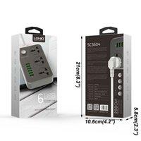 Adaptateur de bouchon de bande portable 6 USB ports USB US / UK / UE Multifonctionnelle Smart Home Electronics DHF3559
