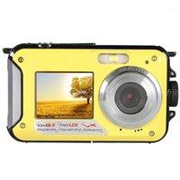 48MP sous-marin de la caméra numérique imperméable à double écran de caméscope vidéo point et tire l'appareil photo numérique JHP-BEST1