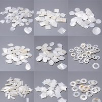 Naturale madreperla di perle d'acqua dolce con conchiglia di fascino con connettore di fascino perline pendente per orecchini gioielli trovare rendimento geometrico jllokj
