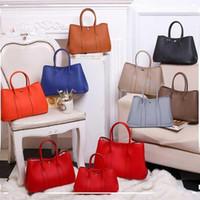 100% cuir véritable sac de jardin garçon sac fourre-tout sac sac à main femmes célèbres marques de haute qualité cuir épaule BL-061