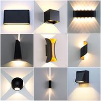 LED 벽 빛 85-265V IP65 실내 야외 계단에 대 한 방수 알루미늄 벽 램프 욕실 정원 베란다 침실 미러 램프