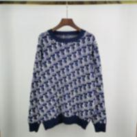 diseñador para hombre otoño otoño suéteres jacquard letras casual de alta calidad moda hombres mujeres azul negro 05
