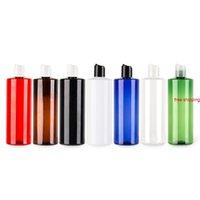 500ml x 12 Bottiglia per tappo a disco in plastica riutilizzabile utilizzata per liquido sapone doccia gel shampoo vuoto pet cosmetico contenitori di grandi dimensioni QUALITITÀ