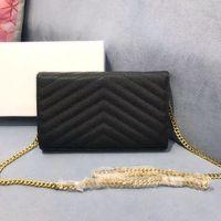 Hakiki deri zincir çanta moda debriyaj bayan zincir omuz çantası inek derisi çanta presbiyopik kart sahibinin çanta messenger kadınlar toptan