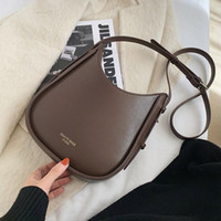 Vintage PU Leather Bucket Bags for Women 2021 Fashion Crossbody Shoulder Hand Bag Lady Trending Handbags and Purses