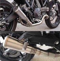 أنابيب العادم 36-51 ملليمتر اليسار اليمين العالمي دراجة نارية النارية نظام الشريط تلميح كاتم الصوت الانزلاق على YZF R61