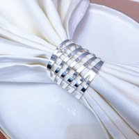 Napkin Rings 6 12Pcs Metal Hollow Gold Silver El Banquet Family Dinner Ring Holder For Wedding Buckle