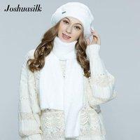 Береты Йошуасильк осень зима женские берут ангора из искусственного меха мягкие и нежные украшения теплые шляпы без ног мода модель