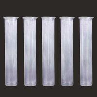 Cartucce con imballaggio Tubi da 0,5 ml 1ml Tubo di plastica 1ml Chiaro a prova di bambino per cartuccia VAPE PEN PP Pre Roll 72mm Contenitori tubi DHL FREE