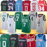 0 Jayson 7 Jaylen Tatum Brown Wall 2 John 34 Hakeem 13 Harden Westbrook Olajuwon Баскетбольные майки