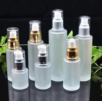 20ml 30ml 40ml 50ml 50ml vetro glassato bottiglia di lozione nebbia spray pompa bottiglie cosmetici campione di stoccaggio contenitori vasetti vaso per partito festa GGA3832-3