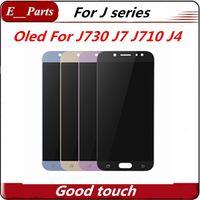 OLED LCD Ekran Samsung Galaxy J7 Için En Kaliteli J730 Pro J701 J710 J4 Ekran Dokunmatik Digitizer Meclisi Yedek Tamir Parçaları Ücretsiz DHL