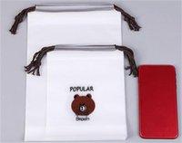 Мультфильм медведь напечатанный шнурки карманные матовые пластиковые водонепроницаемые хранения сумки полотенце носки упаковочные сумки домохозяйства 3 размера 1Са