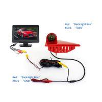 Pannello digitale da 4.3 pollici IR LED della macchina fotografica del freno del freno Led per Renault_master Nissan-NV400 OPEL_MOVANO PZ703462 IP68 Cavo impermeabile 10 m Video