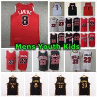 2021 MENS JUVTORES NIÑOS ZACH 8 Lavine Jersey City 23 Edición Auténtica cosida 1 Derrick Rose Retro Classic Michael Basketball Jersey