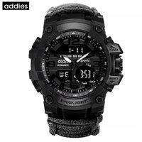 Addies Homens Military Watch Watch Compasso Multifuncional Waterproof Quartz Watch G Estilo Choque Digital Relogio Masculino 201208