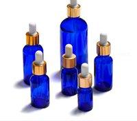 زجاجات قطارة 10ML 15ML 20ML 30ML 50ML 100 ملليلتر زجاج مع ماصة فارغة الأزرق العطور الجرار السائل