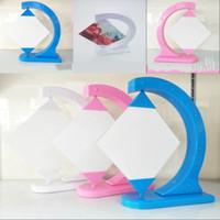 Cadre d'image blanche rouge bleue sublimation bricolage bricolage rotation cadres de rack swing carré porte-photo porte la mode 14 5hy G2