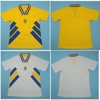 Top 1994 Svezia Retro Soccer Jerseys Larsson Camicia da calcio Dahlin Jersey Brolin Classic Maillot de Piede