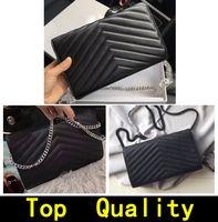 حقيبة يد أعلى جودة جلد طبيعي الأزياء crossbody حقيبة سلسلة معدنية حقائب فليب غطاء محفظة محفظة قطري المرأة حقائب الكتف مع مربع