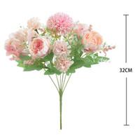 Noiva segurando rosas buquê casamento decorativo flores vasos para casa decoração acessórios flores artificiais para scrapbooking 126 g2