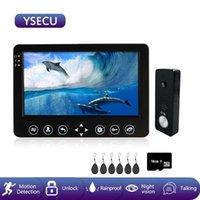 Téléphones de porte vidéo YSECU 7 pouces Interphone Appartement Bâtiment Téléphone dans une maison privée 1200TVL Doorbell Caméra avec clés