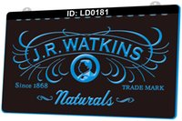LD0181 J. R. Watkins Naturals 3D Engraving LED Light Sign Wholesale Retail