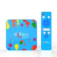 H96 مصغرة 6K مربع التلفزيون الذكي الروبوت 9.0 4 جيجابايت RAM 128GB ROM 32G Allwinner H6 رباعية النواة USB3.0 2.4G WiFi YouTube TVBox Media Player