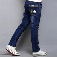 New Fashion Boys Jeans with Letter Print 2020 Spring Autumn Good Quality Jean Kids for Age 6 7 8 9 11 12 13 14 years old F1203