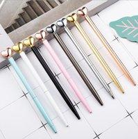 أقلام حبر جاف الأزياء اللون شكل قلب ballpois الإبداعية المعادن حبر جاف القلم لوازم الكتابة الإعلان تخصيص هدايا الأعمال XTL450
