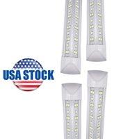8FT T8 72W 4FT 36W Doble fila LED LED de tubo integrado Enchufe y juego para la tienda Garage Warehouse Barn USA Stock