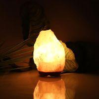 Premium Kwaliteit Himalaya Ionische Crystal Salt Rock Lamp met Dimmer Kabel Switch US Socket 1-2kg Nachtverlichting Groothandel
