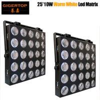 2 Einheiten 5x5 25x10w LED-Matrix-Licht Disco-Licht-LED-Matrix-Blinder-Pixel-Panel 10W COB WHITE LED-DJ-Effekt-Hintergrund-Unterstützung