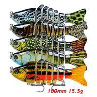 1 unid múltiples secciones de pescado cebos duros Señuelos 15 color mezclado 10 cm 15.5 g 6 # gancho de gancho de triple ganchos de pesca Pesca Tackle KU_210