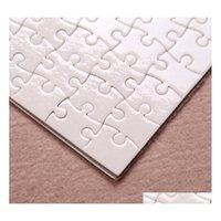 A4 Сублимационные пустые головоломки 120 шт. DIY Craft Heat Press Trans Trans Crafts Jigsaw Puzzle SQCNDU BNENET