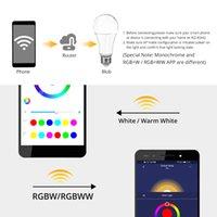 E27 B22 LED WiFi Smart Light Light Lampadine 15W RGB DimMable 85-265V APP Intelligente Controlled Alexa Compatibile compatibile Bulbi assistenti Google