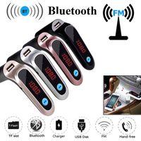 NOUVEAU Adaptateur Bluetooth de voiture S7 FM Transmetteur Bluetooth Car Kit mains libres FM Radio Adaptateur avec chargeur de voiture de sortie USB avec boîte de vente au détail