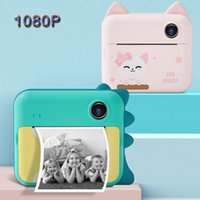 Caméras numériques enfants enfants imprimé instantané 1080p hd enfants instantané caméra polaroid jouets pour filles garçons noël cadeau d'anniversaire cadeau d'anniversaire