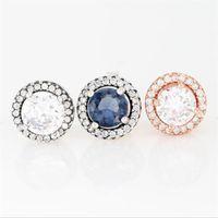 Orecchini a bottone d'argento rotondo femminile 925sterling adatto per accessori per gioielli in stile Pandora8-25 giorni veloce spedizione gratuita migliore qualità Aleer116