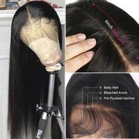 MUESTRA MUESTRA T PARTE DE LA PARTE HUMANO Pelucas delanteras del cordón para las mujeres negras Brizilian Human Hair Pelucas 13x6x1 HD Frontal de encaje transparente