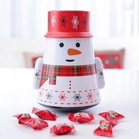 Casella di caramella di Natale Bambini regalo regalo scatola di latta Natale Natale Santa Claus Iron Candy Caso Pupazzo di neve stampato Sigillato Jar Scatole di imballaggio Decorazioni Sea DHC4360