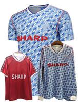 Retro 1990 1991 1992 Classic Soccer Jerseys Manchester 90/92 Giggs Cantona Casa Retro Futebol